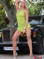 Blanca Brooke Gets Naked In A Rolls Royce