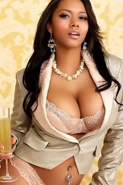 Busty Ebony Model