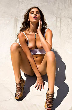 Kyra Milan Naked Outdoors