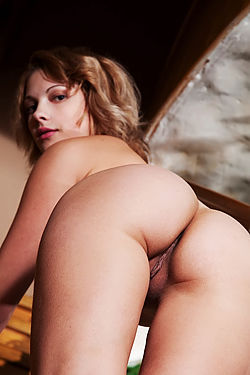 Milka Hot Assed Sexy Girl Posing On Stairs