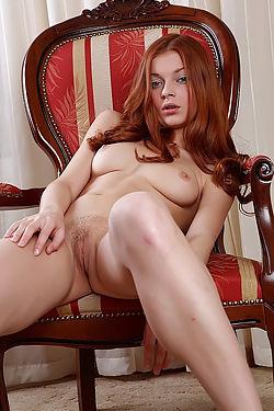 Angelina Cute Redhead Girl Posing Nude