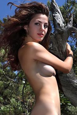 Hot Nude Girl Posing Outdoors