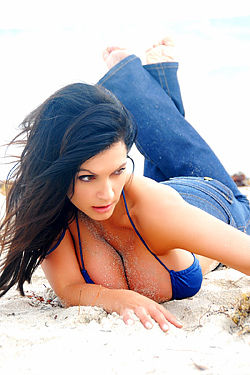 Denise Milani Beach
