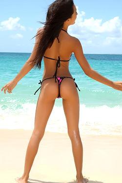 Beach Girl  Amia Gets Naked
