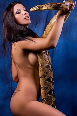 Nikki Rider With Snake
