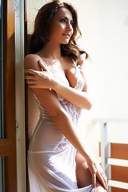 Michaela Isizzu Hottest White Lingerie
