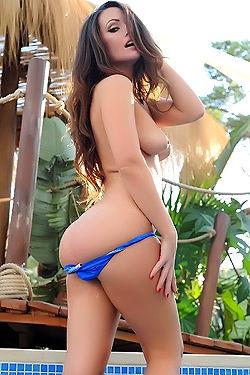 Anastasia Harris Blue Bikini