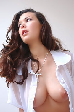 Horny Aya Shows Off Her Natural Tits