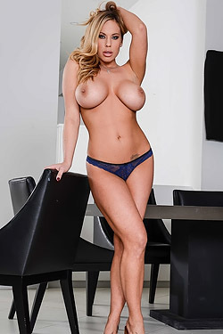 Olivia Austin Strips In The Dining Room